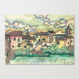 """A Spanish village"" Canvas Print"