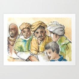 Rajasthani Men Art Print