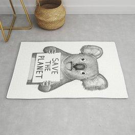 Koala save the planet Rug