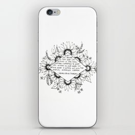 Thoreau Sunflower iPhone Skin