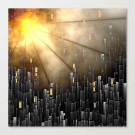 Hot shine over the city Canvas Print
