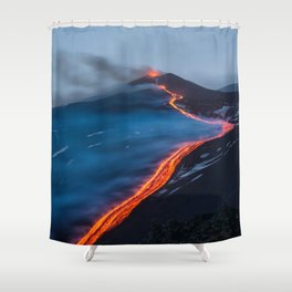 WHEN THE BEACH TURNS RED Shower Curtain