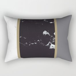 Marble Mix Stripes #1 #black #white #gray #gold #decor #art #society6 Rectangular Pillow