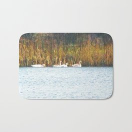Swans in Autumn Bath Mat