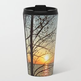 Sunset at Pere Marquette Beach Travel Mug