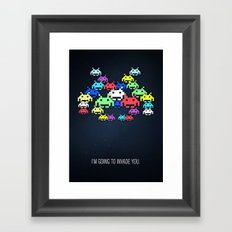 invader boss Framed Art Print