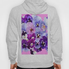 SPRING COLLECTION PURPLE-PINK PANSIES Hoody