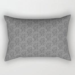 Gray Attica print Rectangular Pillow