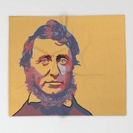 Henry David Thoreau Throw Blanket