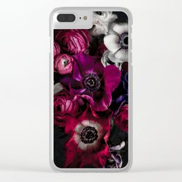 Dark Flowers 1 Clear iPhone Case