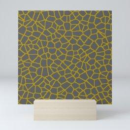 Staklo (Gold/Gray) Mini Art Print