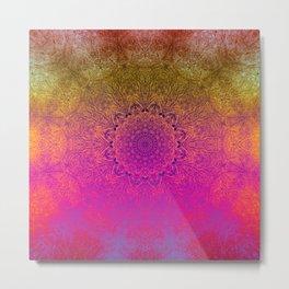 Sometimes less is more - Rainbow mandala excerpt Metal Print
