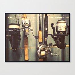 Fishing pole Canvas Print