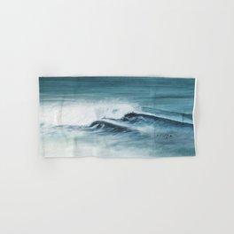 Surfing big waves Hand & Bath Towel