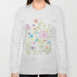 Mixed Wild Flower Long Sleeve T-shirt