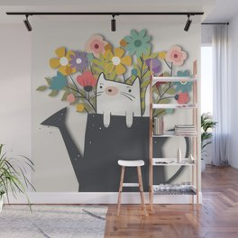 The Cat Is Back Wall Mural