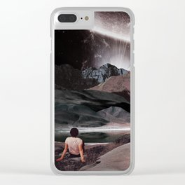 Space lights in the calm night Clear iPhone Case