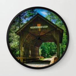 Rhode Island Foster Covered Bridge Wall Clock