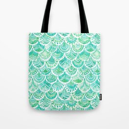 VENUS DE MER Aqua Mermaid Scales Tote Bag