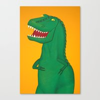 t rex Canvas Prints featuring T-Rex by Yana Elkassova