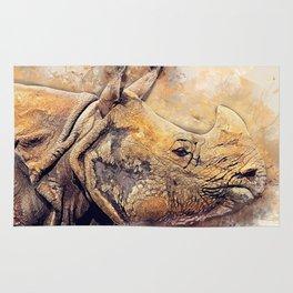 Rhinoceros Rug