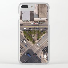 Division Blue Line Clear iPhone Case