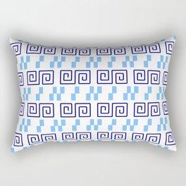 Frieze 3 blue Rectangular Pillow