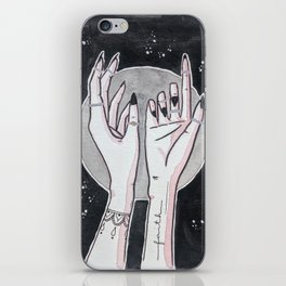 Full Moon Witch Hands iPhone Skin
