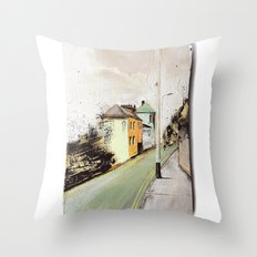 Meanwhile.. Landscape I Throw Pillow