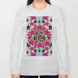 Abstract pink stars Long Sleeve T-shirt