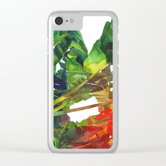 Bananas leaves Clear iPhone Case