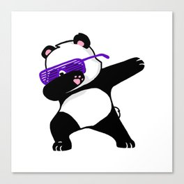 Dabbing Panda Cute Funny kids adults Dabing dane Canvas Print