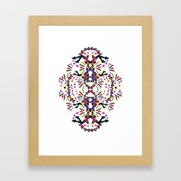 nostalgic pattern Framed Art Print