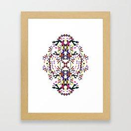 nostalgic pattern Framed Art Print