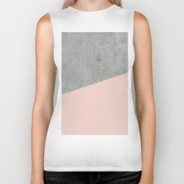 Concrete and Pale Dogwood Color Biker Tank