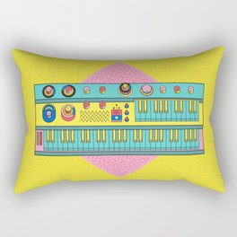 Psychedelic synth Rectangular Pillow