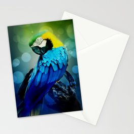 Macaw on branch Stationery Cards