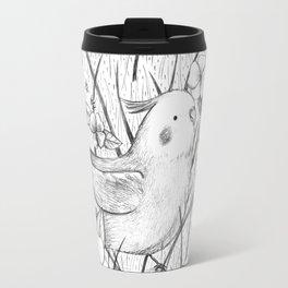 Cockatiel in Grass Travel Mug