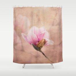 Pink Magnolia II - Flower Art Shower Curtain