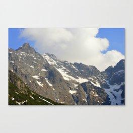 Blue Sky - Snowy Mountain Canvas Print