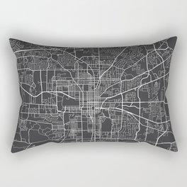 Tallahassee Map, USA - Gray Rectangular Pillow