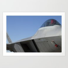 F22 F-22 Raptor Fighter Military Aircraft/Airplane Detail USAF Art Print