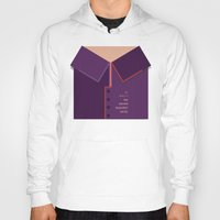 the grand budapest hotel Hoodies featuring Wes Anderson's Grand Budapest Hotel - Minimal Movie Poster by Stefanoreves