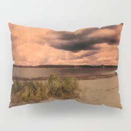 Menacing clouds over the sea Pillow Sham