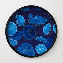 Moon Jelly Swarm Wall Clock