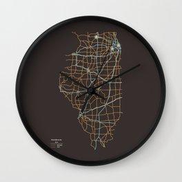 Illinois Highways Wall Clock