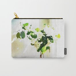 Vase of Flowers with shadows watercolor Carry-All Pouch