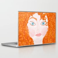 ginger Laptop & iPad Skins featuring Ginger by Amanda K. Hootman