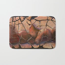 The Pears Fresco With a Crackle Finish #Society6 Bath Mat