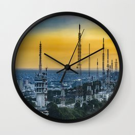 Guayaquil Aerial View from Window Plane Wall Clock